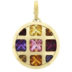 Cartier Pasha Multi Gemstone Gold Pendant