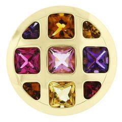 Cartier Pasha Multi Gemstone Gold Ring