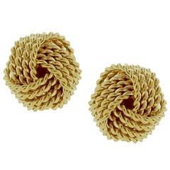 Tiffany & Co. Gold Knot Earrings