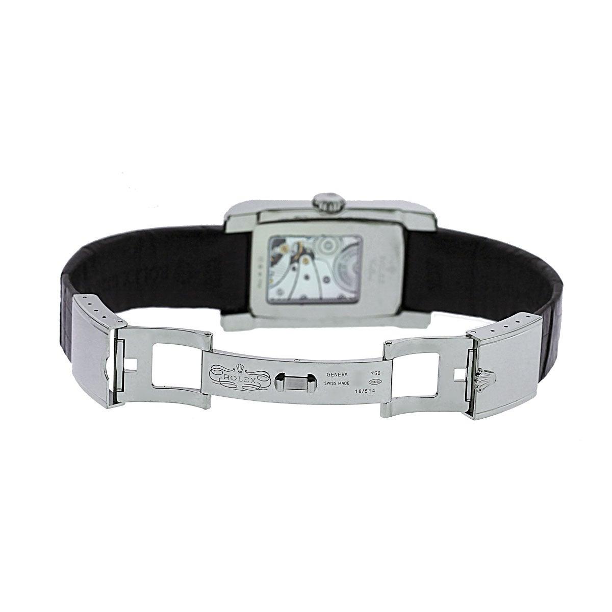 Rolex White Gold Cellini Prince Automatic Wristwatch Ref 5443/9 In Excellent Condition For Sale In Boca Raton, FL