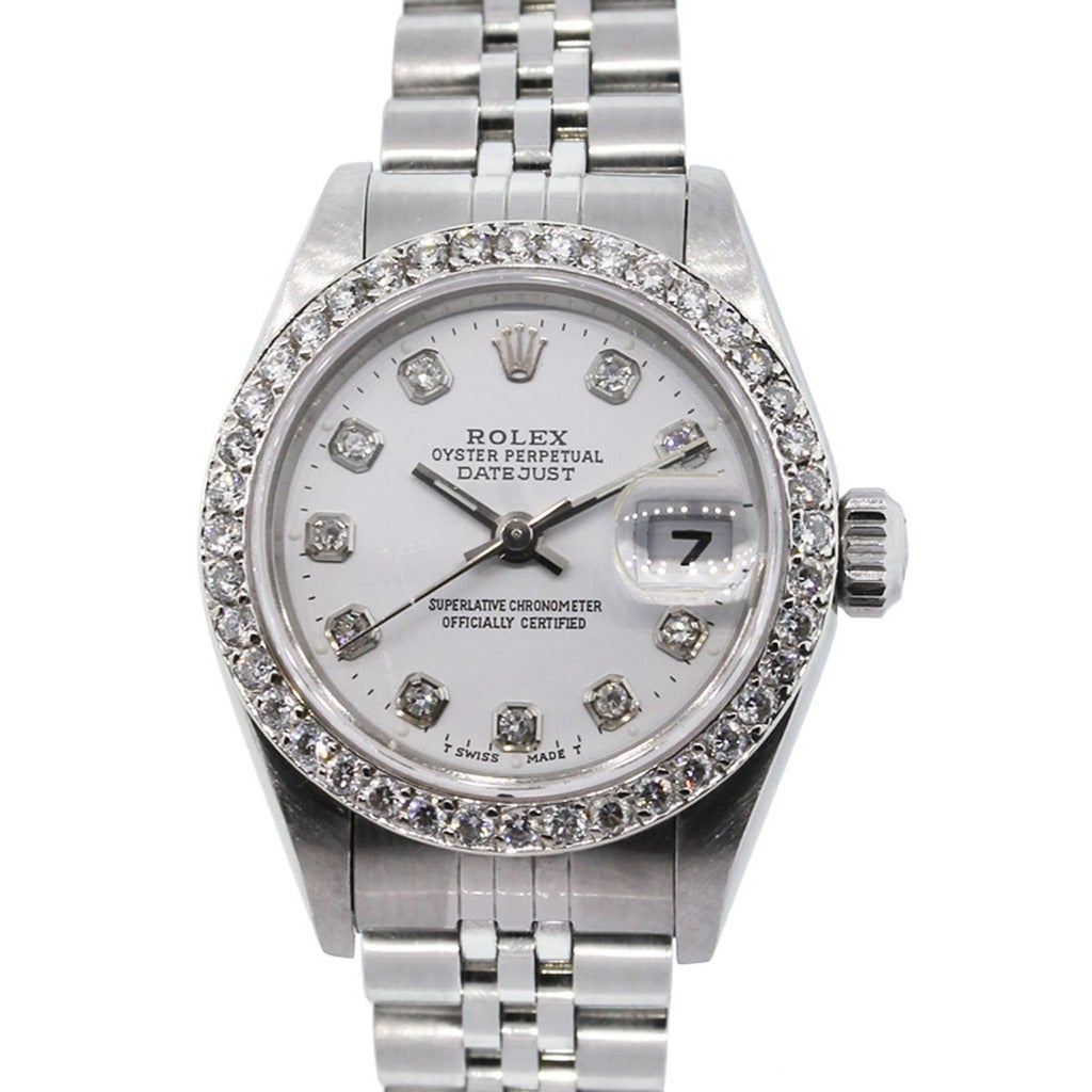 Rolex Lady's Stainless Steel Diamond Datejust Automatic Wristwatch Ref ...