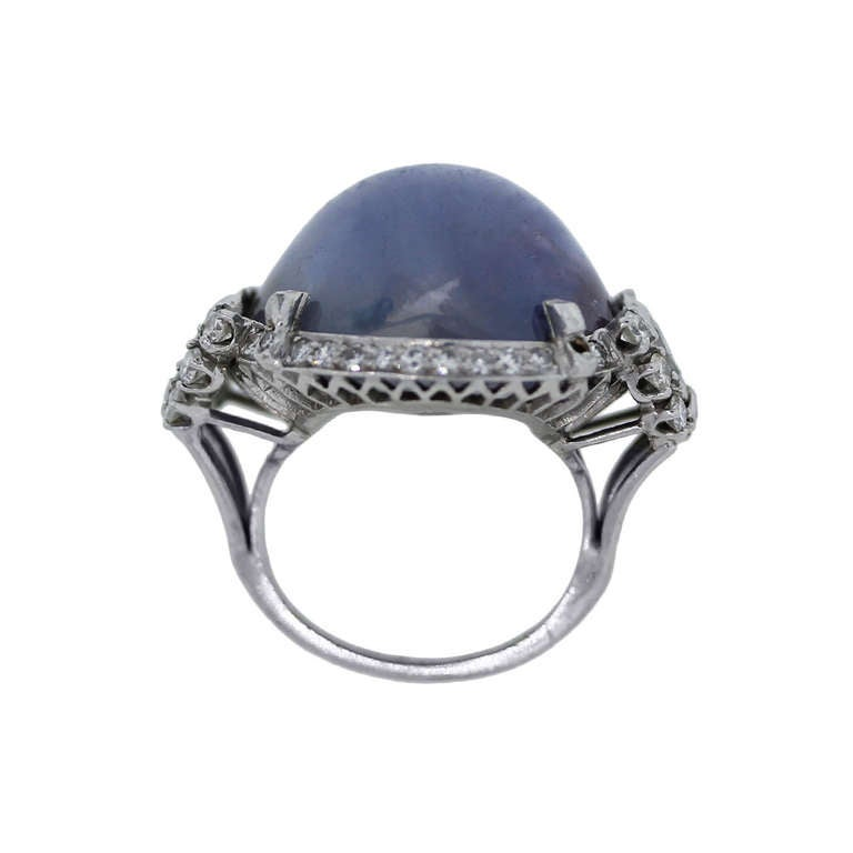 antique sapphire platinum ring for sale at