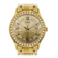 Piaget Polo 24005 M 501 D 18k Yellow Gold Diamond Watch