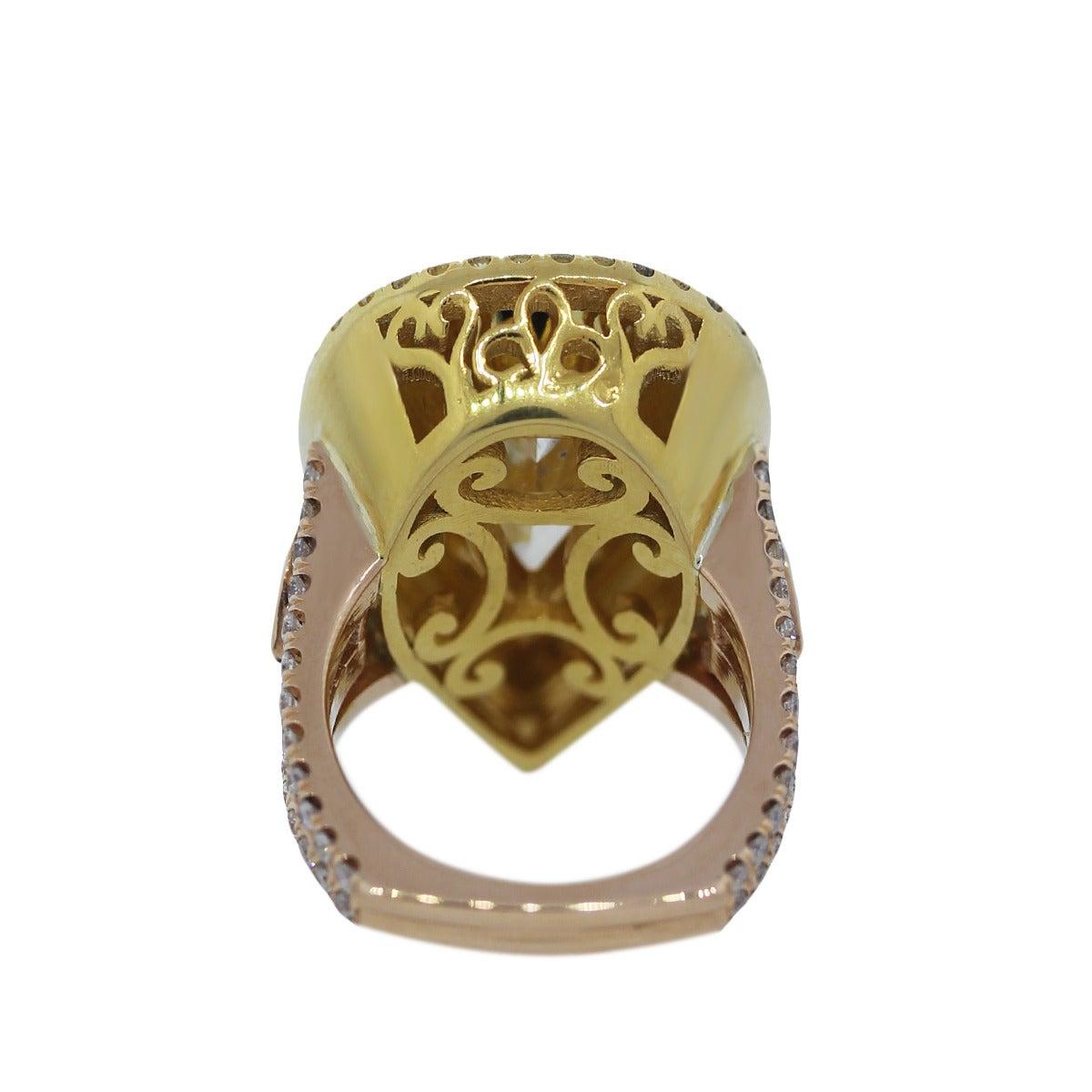 14 33 carat fancy light yellow pear shaped gold