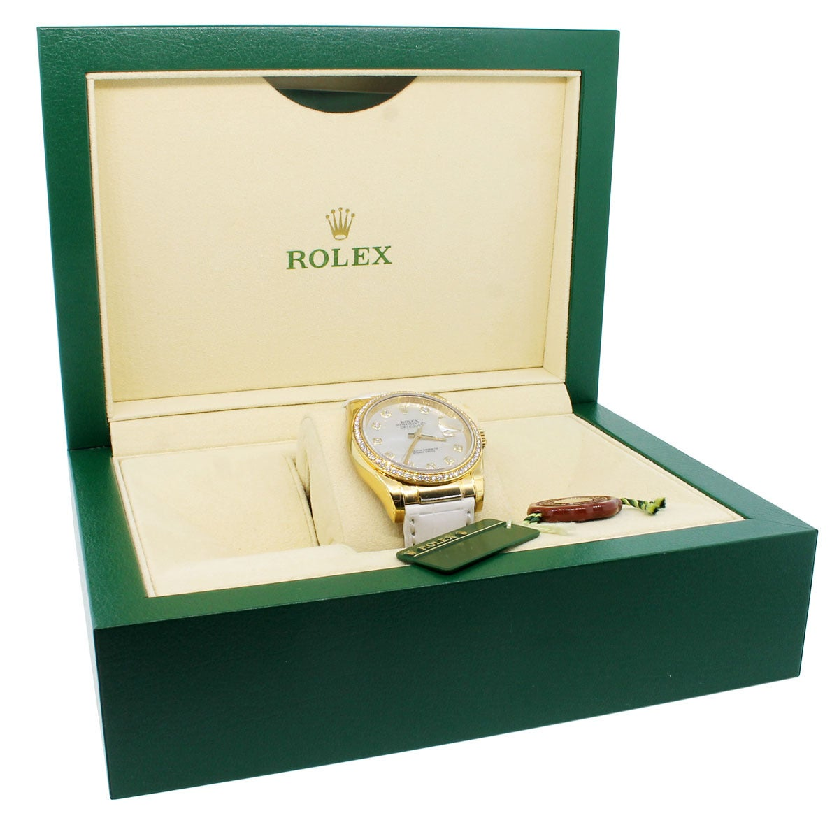 Rolex Yellow Gold Datejust Mother of Pearl Diamond Dial Wristwatch Ref 116188 For Sale 3
