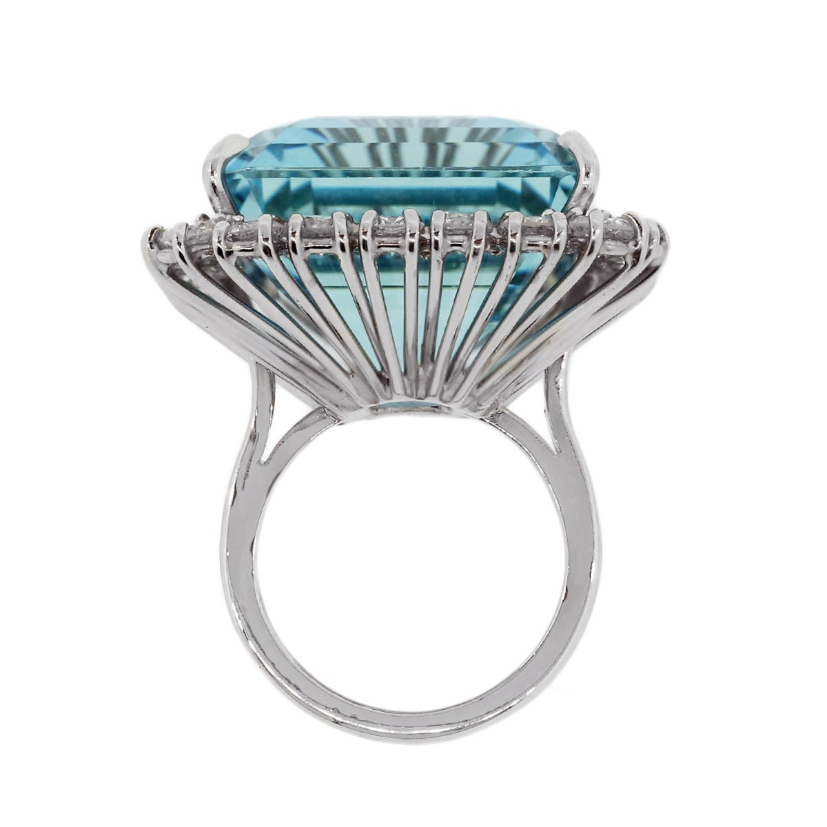 aquamarine platinum ring for sale at 1stdibs