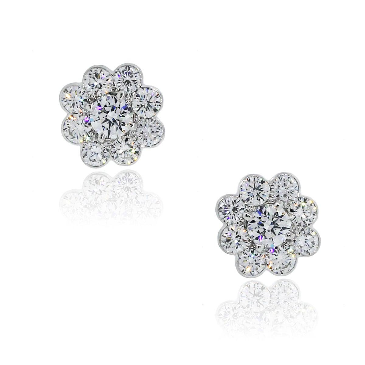 Graff Diamond White Gold Cluster Earrings At 1stdibs