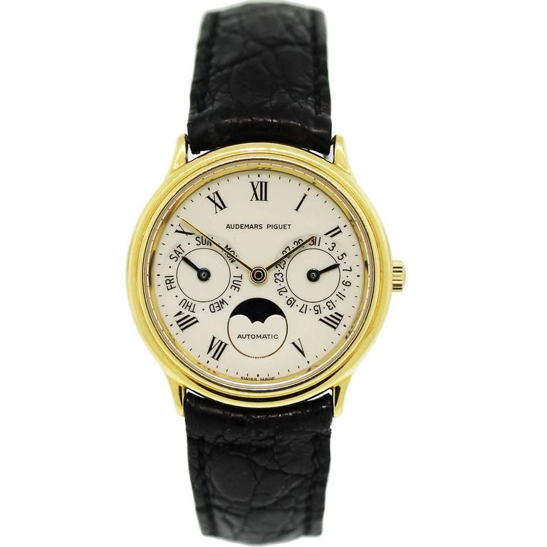 Audemars Piguet Yellow Gold Classic Day Date Moonphase