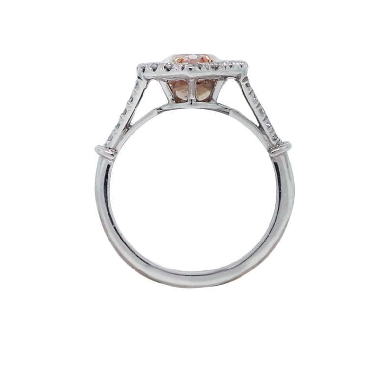 3 Carat GIA Certified Natural Fancy Light Pink Marquise Diamond Platinum Ring  4