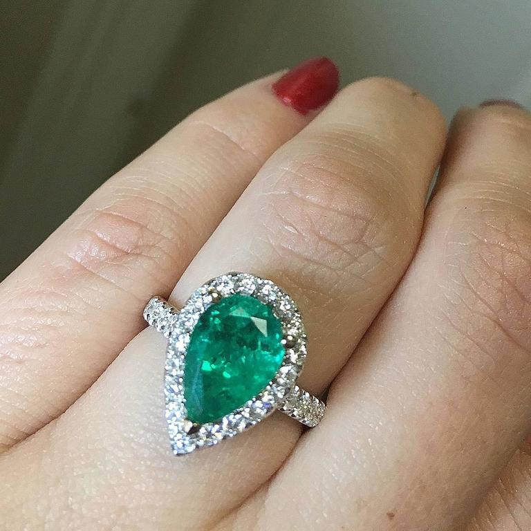 Antique Emerald And Diamond Engagement Rings