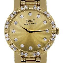 Piaget Ladies Yellow Gold Diamond Dial Dancer Wristwatch Ref 80564