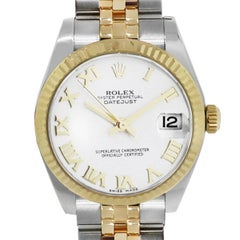 Rolex Yellow Gold Stainless Steel Datejust Automatic Wristwatch Ref 178273