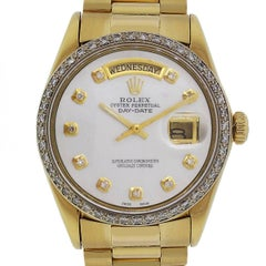 Rolex yellow gold Presidential Day-Date Diamond Dial Automatic Wristwatch