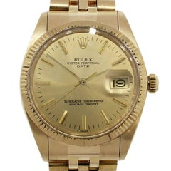Rolex yellow gold Date Champagne Dial Automatic Wristwatch Ref 1503