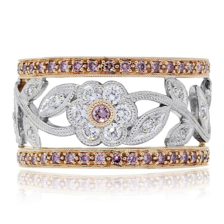 Simon g 18k rosewhite gold 088ctw pinkwhite diamond flower ring simon g 18k rosewhite gold 088ctw pinkwhite diamond flower ring for mightylinksfo