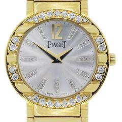 Piaget Lady's Yellow Gold Diamond Bezel Quartz Polo Wristwatch