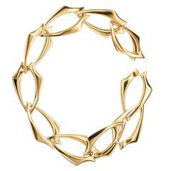 Hannah Martin London Gold Sculptural Spur Link Bracelet