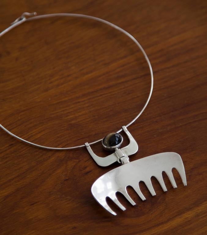 1954 Karl-ÅKe Nyströms Sterling Silver Pendant Necklace For Sale 2