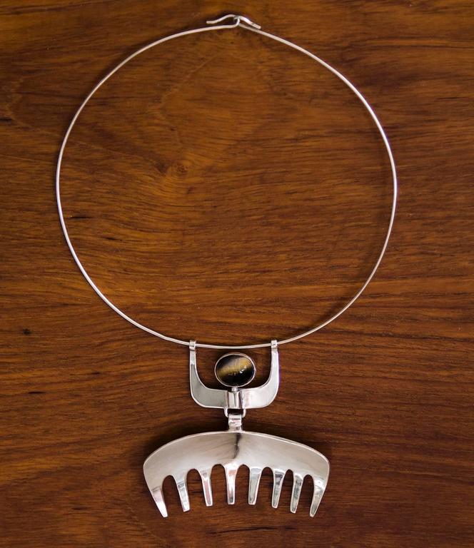 1954 Karl-ÅKe Nyströms Sterling Silver Pendant Necklace For Sale 3