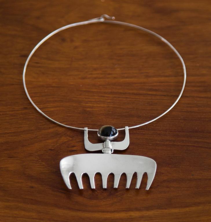 Women's or Men's 1954 Karl-ÅKe Nyströms Sterling Silver Pendant Necklace For Sale