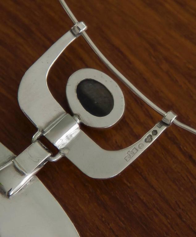 1954 Karl-ÅKe Nyströms Sterling Silver Pendant Necklace For Sale 1