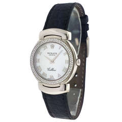 Rolex Lady's White Gold and Diamond Cellini Wristwatch Ref 6671