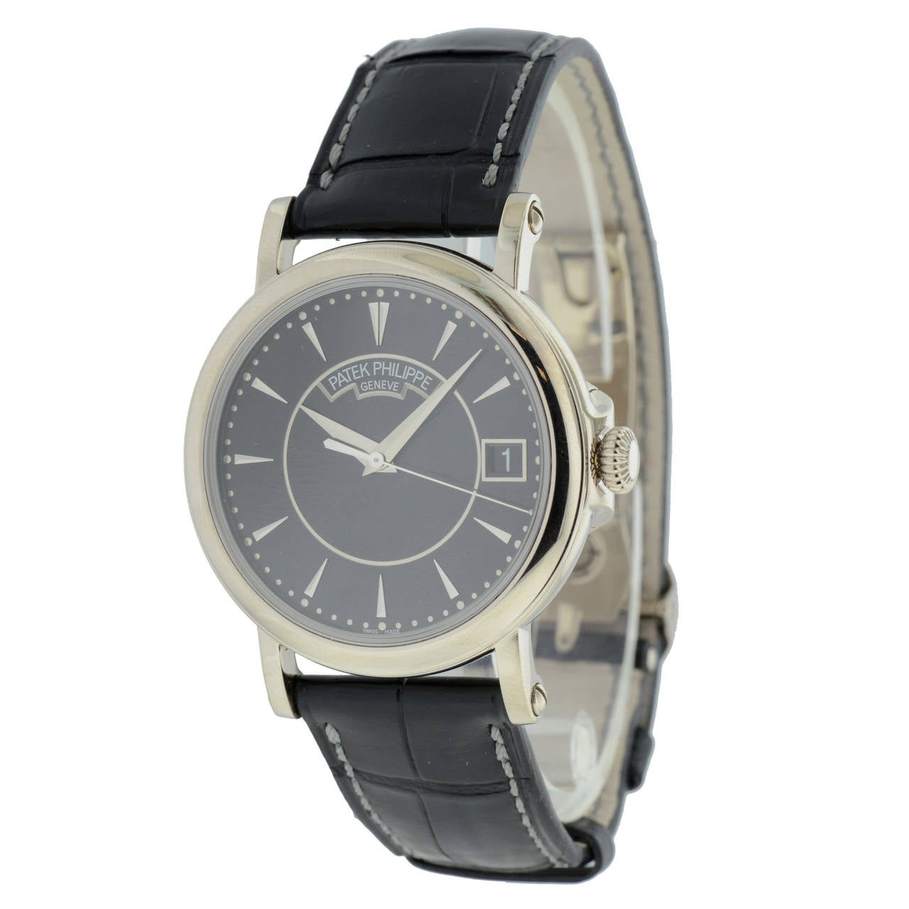 Patek Philippe White Gold Calatrava Self Winding Wristwatch Ref 5153G