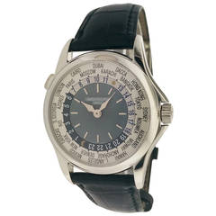 Patek Philippe Platinum World Time Wristwatch Ref 5110P