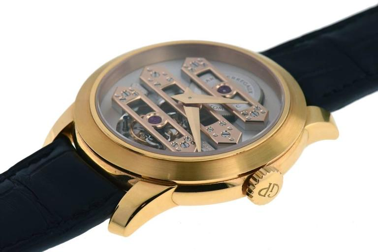 Girard Perregaux Rose Gold Triple Bridge Tourbillon Wristwatch  For Sale 1