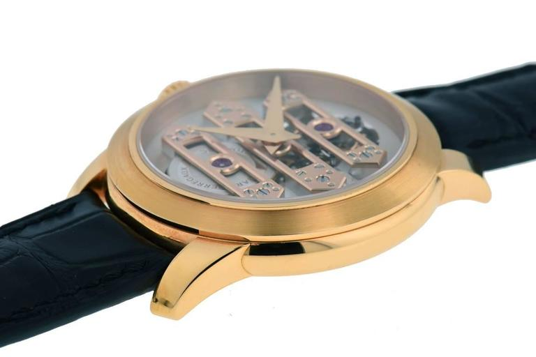Men's Girard Perregaux Rose Gold Triple Bridge Tourbillon Wristwatch  For Sale
