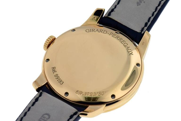 Girard Perregaux Rose Gold Triple Bridge Tourbillon Wristwatch  In Excellent Condition For Sale In Hartsdale, NY