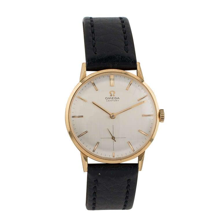 Omega Yellow Gold Automatic Wristwatch circa 1950s 2
