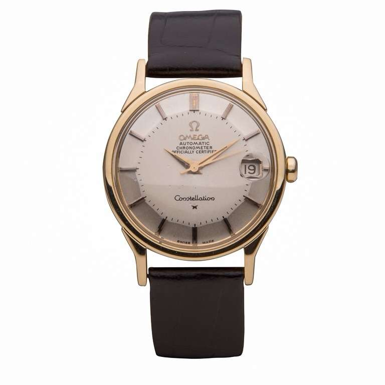 Omega Yellow Gold Constellation Wristwatch with Date circa 1960s 2