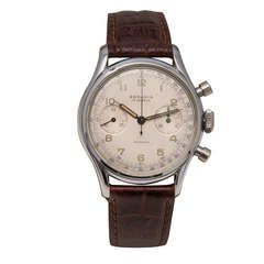 Rodania Stainless Steel Chronograph Wristwatch circa 1950s