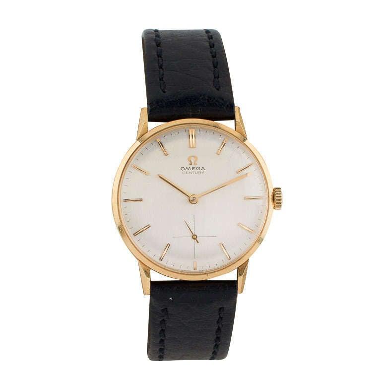 Omega Yellow Gold Automatic Wristwatch circa 1950s 1