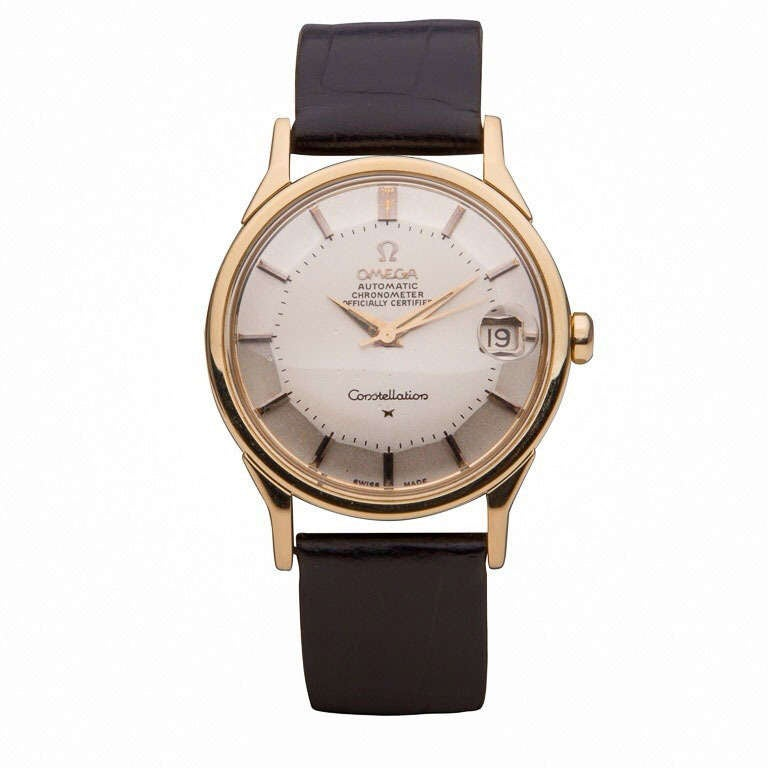 Omega Yellow Gold Constellation Wristwatch with Date circa 1960s 1