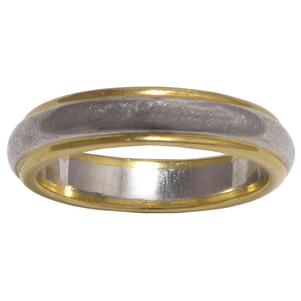 gold platinum fidelity ring at 1stdibs