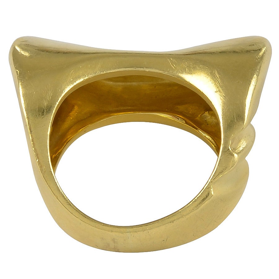 Abstract Italian Gold Ring 3