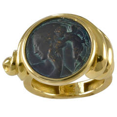 An Asymmetrical Bronze and Gold Ring by Jean Vendome of Paris