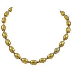 A Victorian Gold Bead Necklace