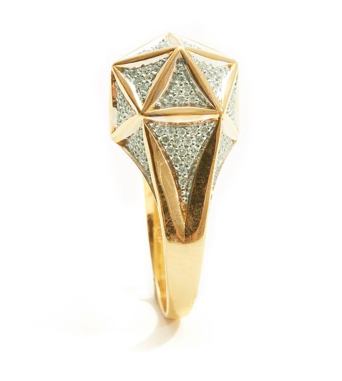Icoso Mini Diamond Gold Ring 3