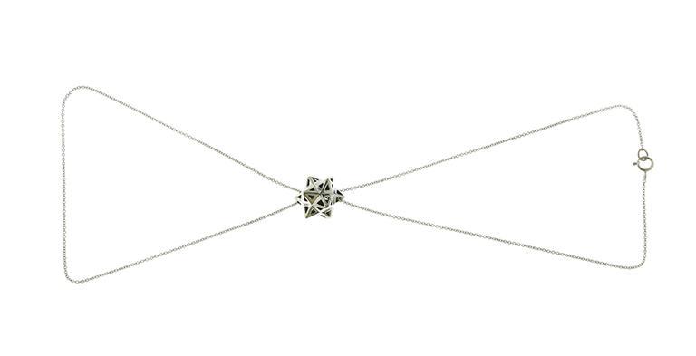 Framed Mini Tetra Silver Necklace 2