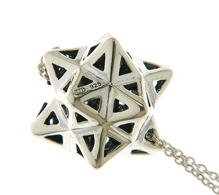 Framed Mini Tetra Silver Necklace 4