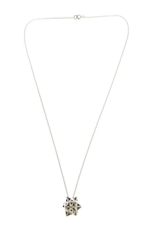 Framed Mini Tetra Silver Necklace 3