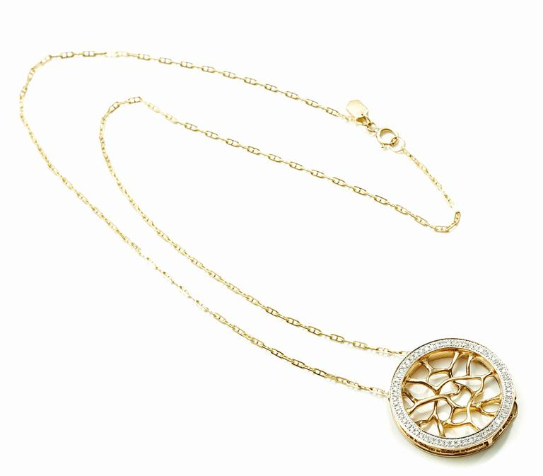 Modern John Brevard Diamond Gold Web Necklace For Sale