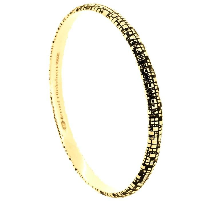 Blockchain Torus 18K Gold Bangle In New Condition For Sale In Coral Gables, FL