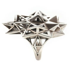 Stellated Star Silver Ring
