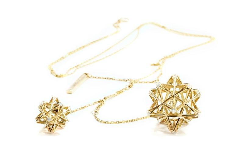 Women's Frame Diamond Gold Pendant For Sale