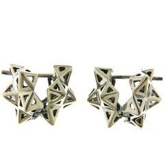 Framed Mini Tetra Silver Earring