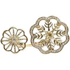 Snow Queen Diamond Gold Ring